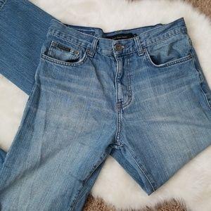 Mens Calvin Klein White Wash Denim Jeans